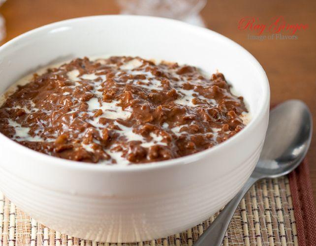Champorado - chocolate rice porridge; traditionally champorado is ...