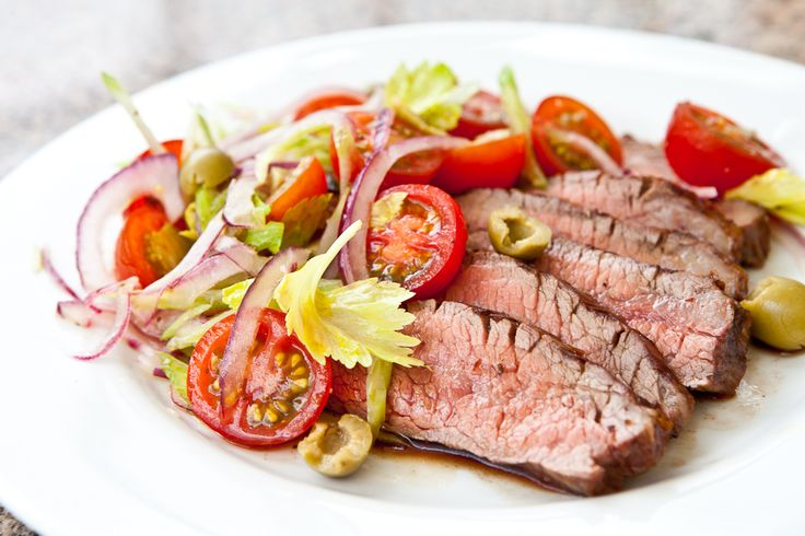 Flank Steak with Bloody Mary Tomato Salad. I'm loving flank steak ...