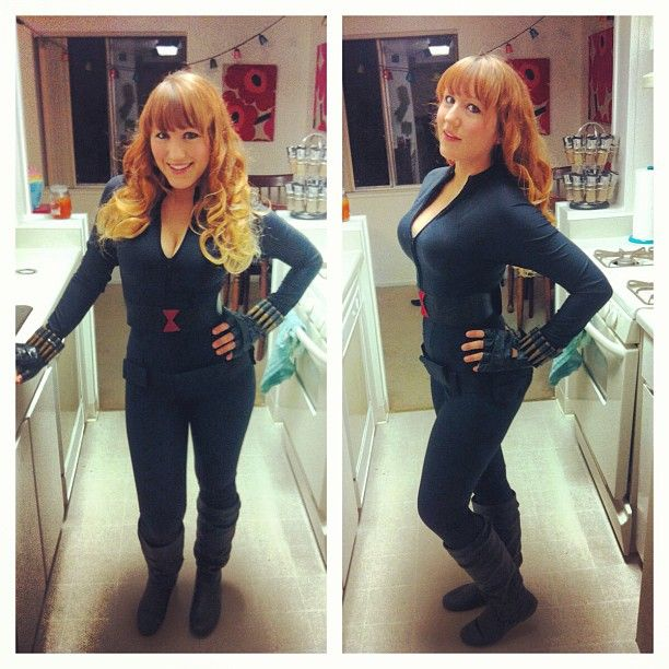 On me at the midnight avengers premier cosplay blackwidow style