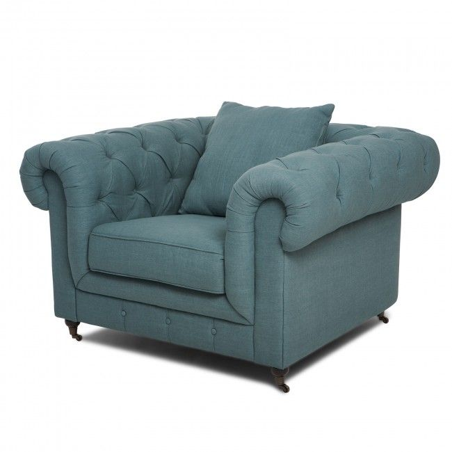 Chesterfield light blue armchair armchairs pinterest for Light blue armchair