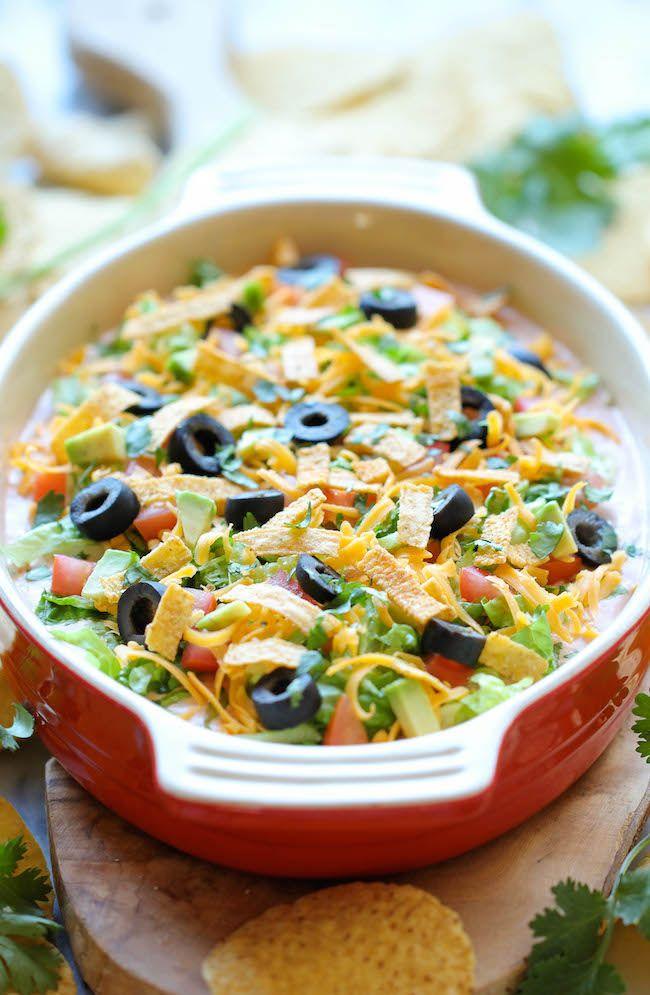 Skinny Taco Dip Recipe. | Low Carb Greatness | Pinterest