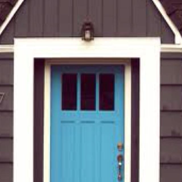 dark gray house blue door front door pinterest. Black Bedroom Furniture Sets. Home Design Ideas
