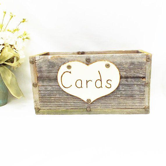 Rustic Wedding Gift Card Holder : Wedding Card Box, Gift Card Box, Gift Card Holder, Rustic Wedding, Co ...