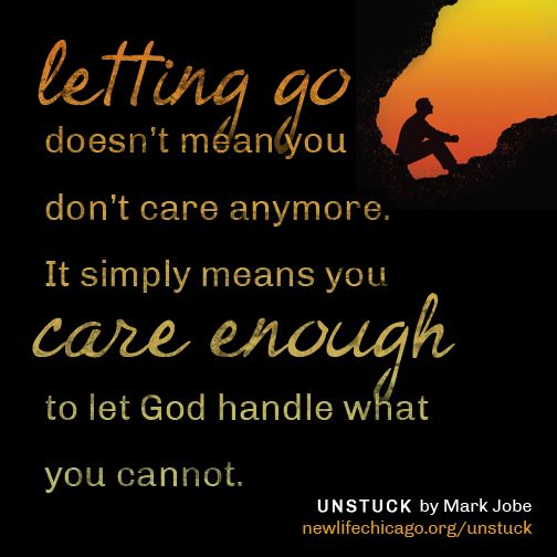how to let go and let god handle it