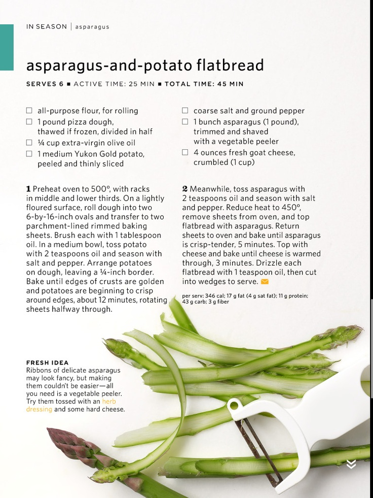 Asparagus and Potato Flatbread | Better Breads | Pinterest