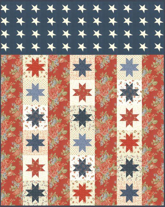 Flag of Valor Free Pattern Feeling Sew Sew Pinterest