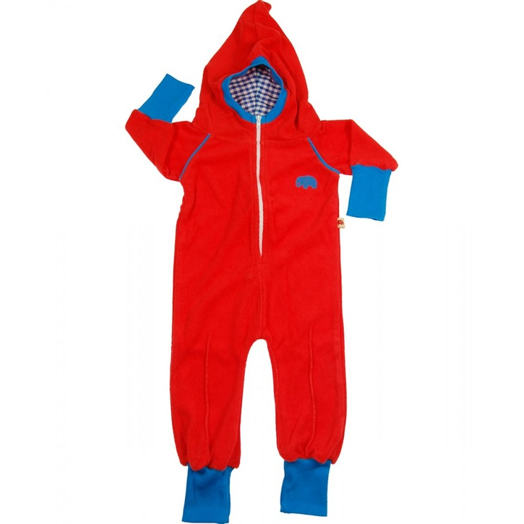 AlbaBaby red Zam zipper jumpsuit