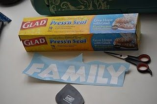Glad Press 'n Seal for vinyl instead of transfer paper...amazing, brilliant and CHEAP!!