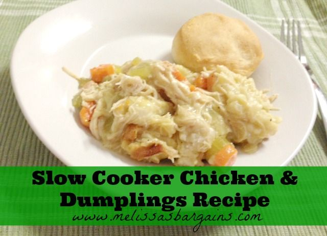 Slow Cooker Chicken and Dumplings Recipe - Melissa's Bargains