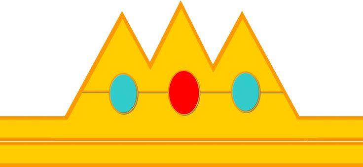Princess Peach Crown Template | Party Ideas | Pinterest