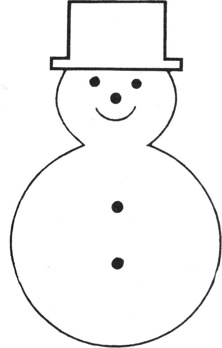 free printable snowman template | bonhommes de neige | Pinterest