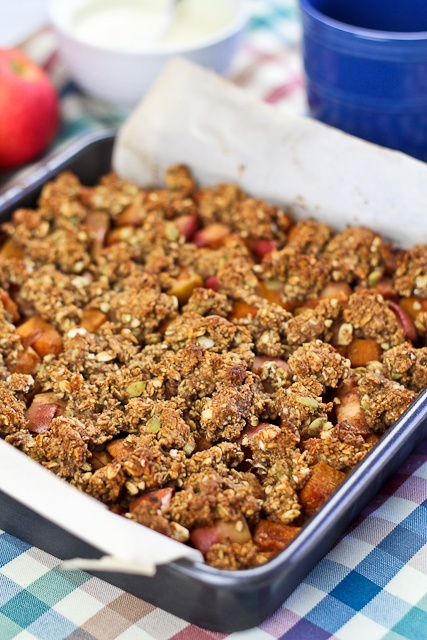 Healthy Pumpkin and Apple Crumble Squares | Recipe