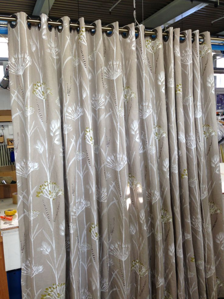This Harlequin fabric looks great made into eyelet curtains