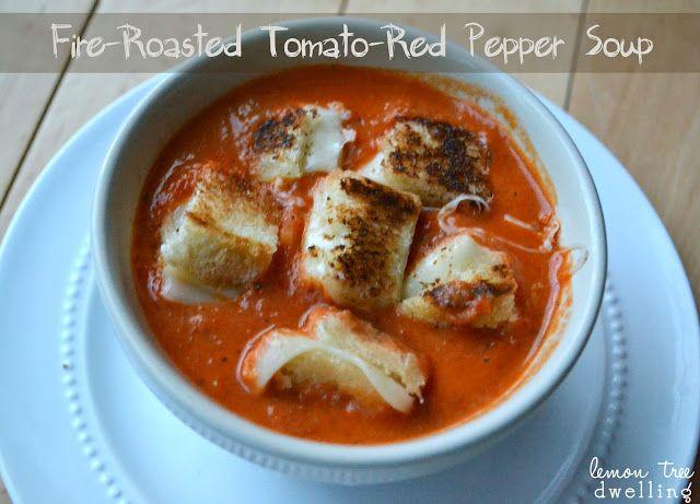 Lemon Tree Dwelling: Fire-Roasted Tomato-Red Pepper Soup