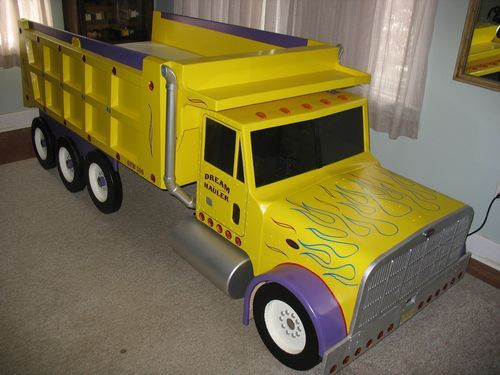 Boys Girls Bedroom Dump Truck Theme Bed