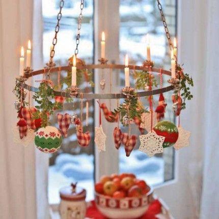 Norwegian christmas chandelier scandinavian pinterest - Ideen adventskranz ...