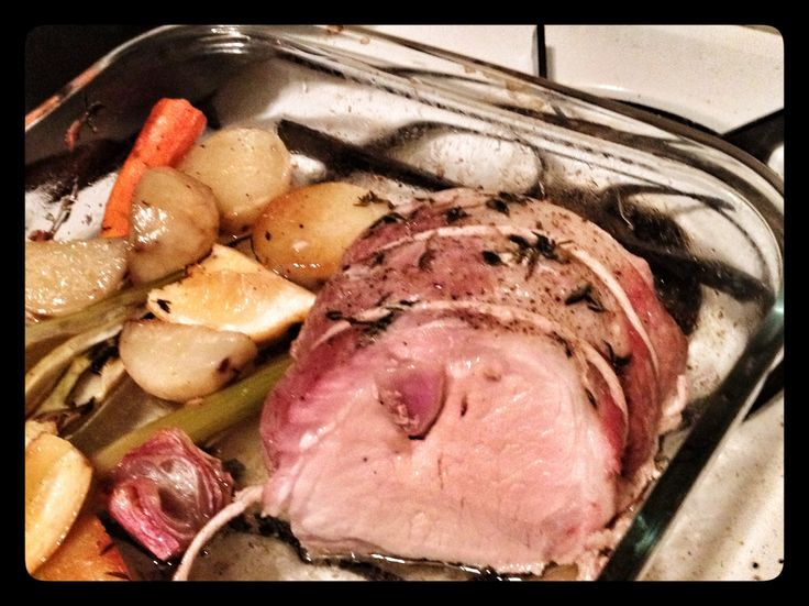 Pork Loin with Fennel Bulb, Carrots, and White Turnips. Based on Food ...