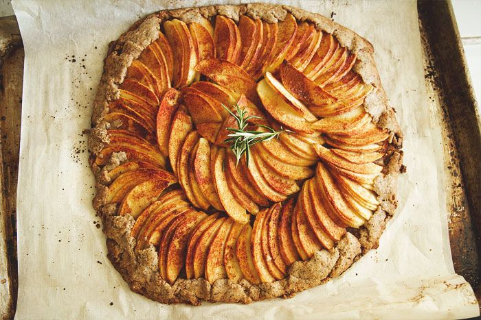 APPLE PEAR GALETTE WITH LEMON ROSEMARY REDUCTION AND GINGER WHIPPED ...