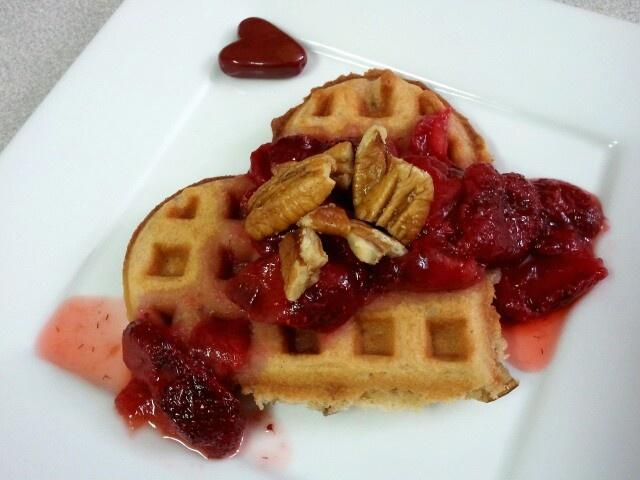 Pecan Peanut Butter Waffles...a nutty delicious breakfast!