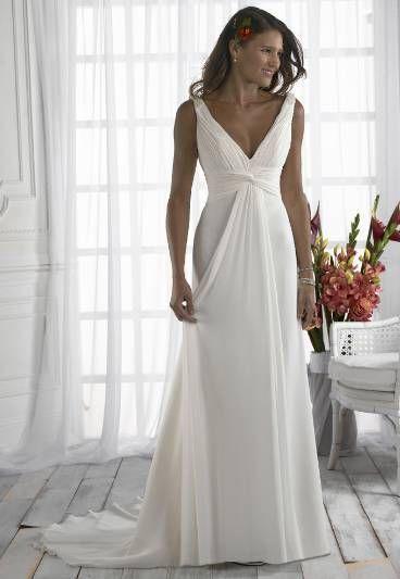 Beach Wedding Dresses Size 16 : Neck grecian beach style wedding dress size