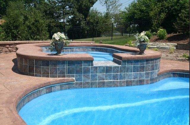 I Like The Tile And No Coping Pool Edge Love Pinterest