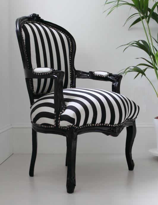 Black and white striped chair fashionable interiors black and whit