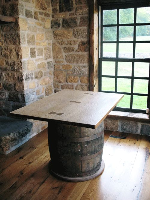Rectangular wine barrel table the outdoors pinterest for 1 2 wine barrel table
