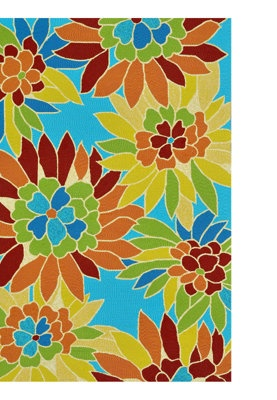 Floral bright outdoor rug outside pinterest for Bright floral area rugs
