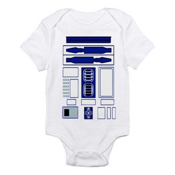 R2d2 onesie star wars baby infant bodysuit