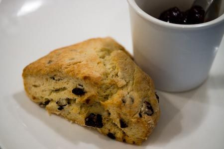 Traditional Cream Scones with Currants