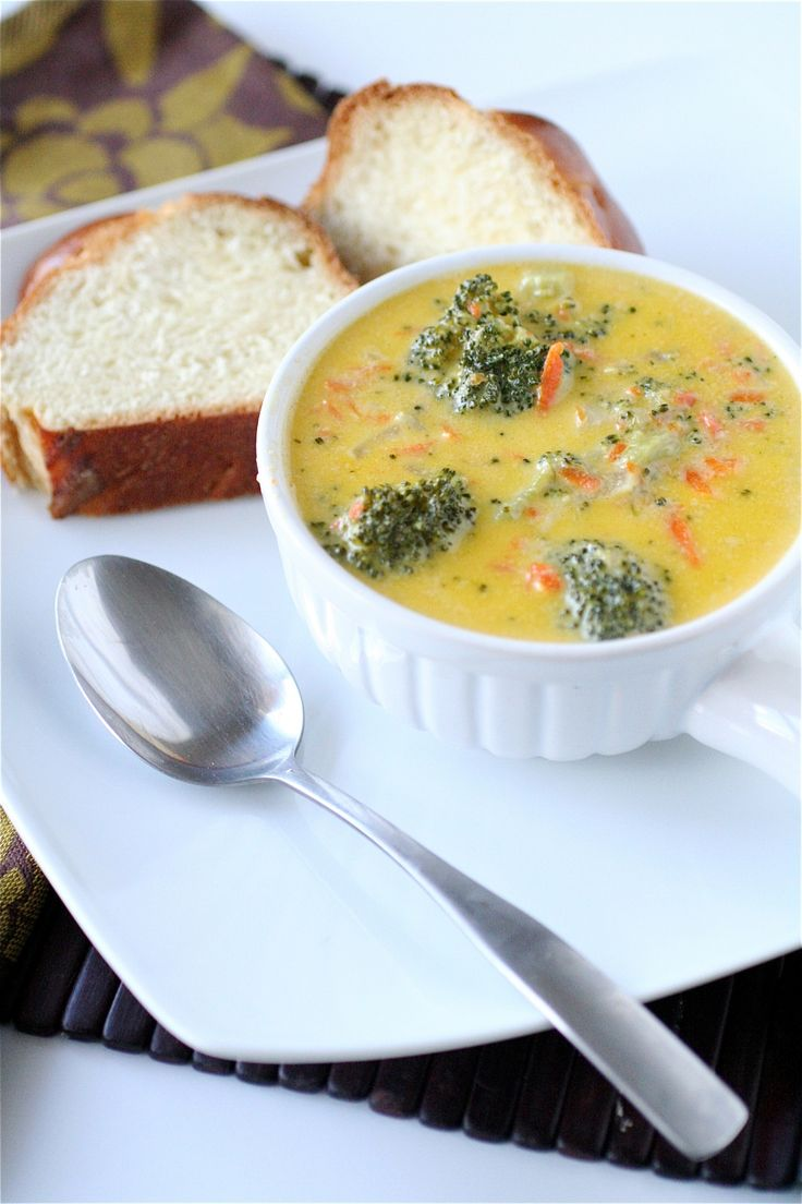 Broccoli Cheddar Soup. Amy this is the soup I made tonight:)