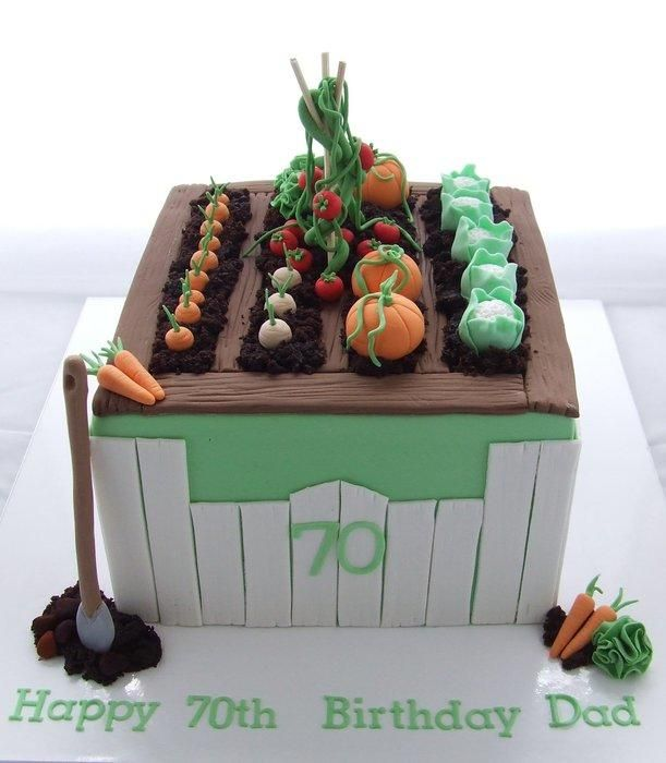 Cake Decorating Ideas Garden : Vegetable Garden cake cake decorating ideas Pinterest