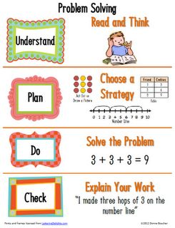 Math Coach's Corner: Primary Problem Solving Poster