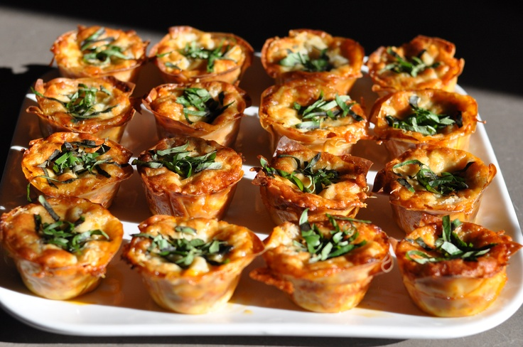 Lasagna Cupcakes | Food...Small Bites | Pinterest