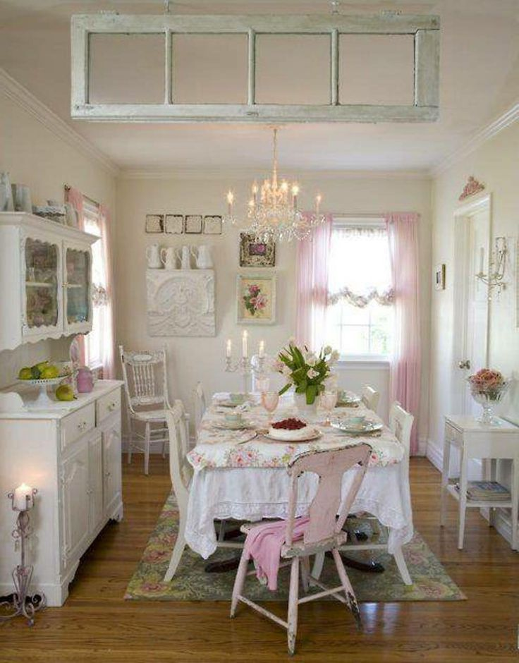 Lovely shabby chic dining room so love shabby chic x pinterest - Shabby chic dining rooms ...