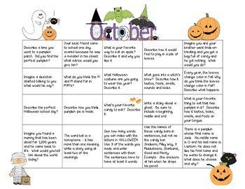 writing prompt calendar Teaching resource: monthly writing calendar with 240 writing prompts for the year.