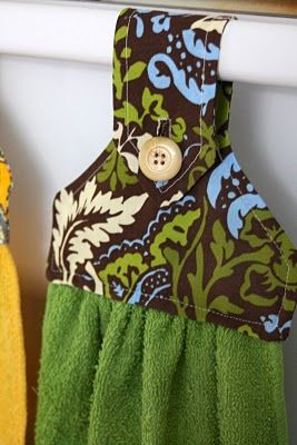DIY hanging hand towels