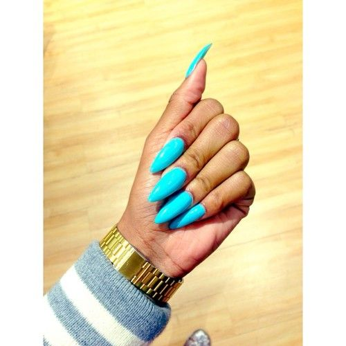 light blue stiletto nails my style pinterest