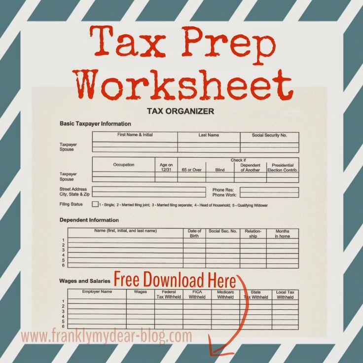 Tax Planning Worksheet Delibertad – Tax Preparation Worksheet