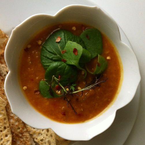 Curried Red Lentil Stew with Seasonal Greens (Vegan) | Recipe