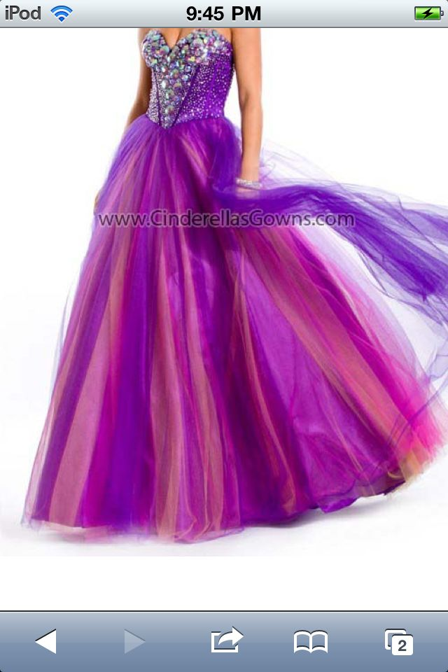 Purple And Pink Prom Dresses - Evening Wear
