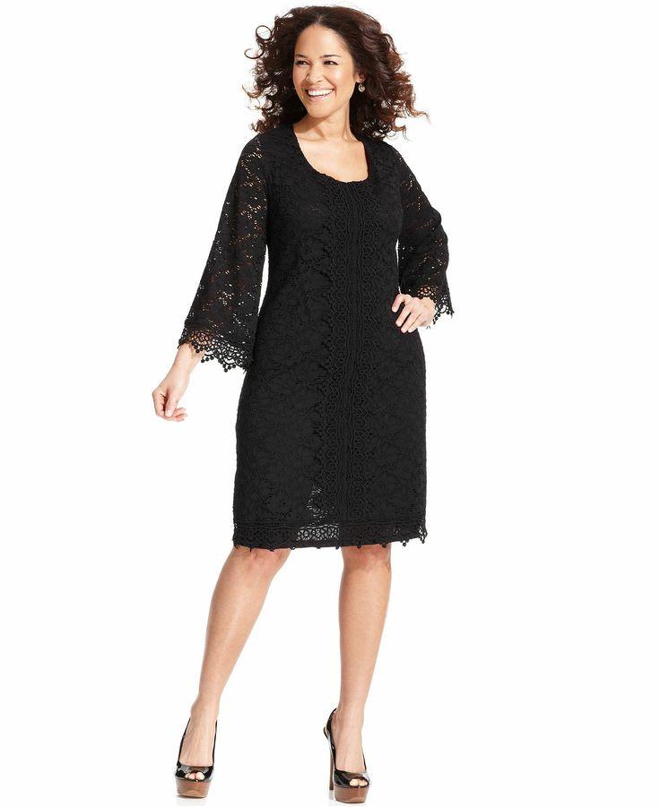 HD wallpapers alfani plus size three quarter sleeve lace dress