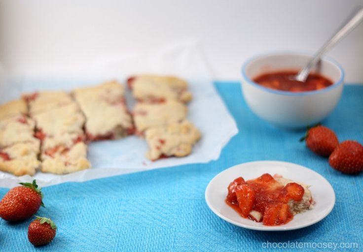 Strawberry Cream Biscuits With Strawberry Sauce | Recipe