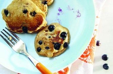Blueberry-Lemon Whole Wheat Pancakes Recipes. #Recipes