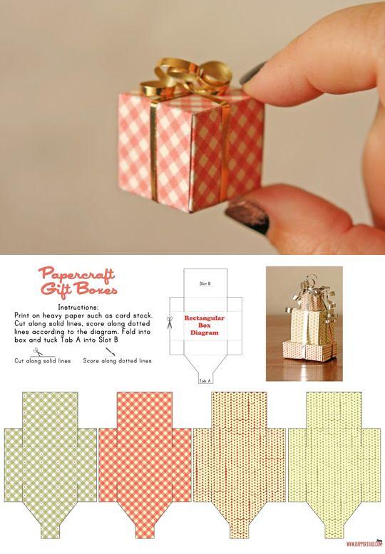 Как сделать из бумаги маленькие коробочки