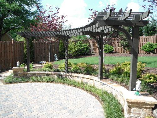 backyard hardscape  Garden  Pinterest