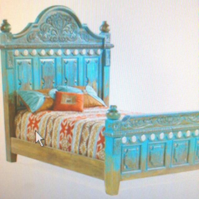 vintage turquoise bed frame design ideas pinterest