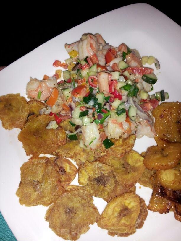 Ceviche con Tostones.. | Puerto Rico y su comida. | Pinterest