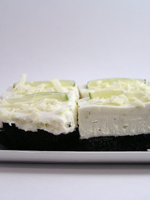 White Chocolate and Lime Cheesecake Bars | cocoa | Pinterest