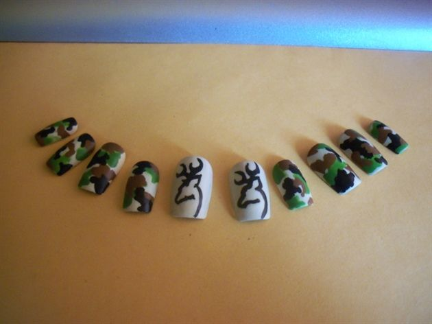 Browning Camouflage nails~Awesome!